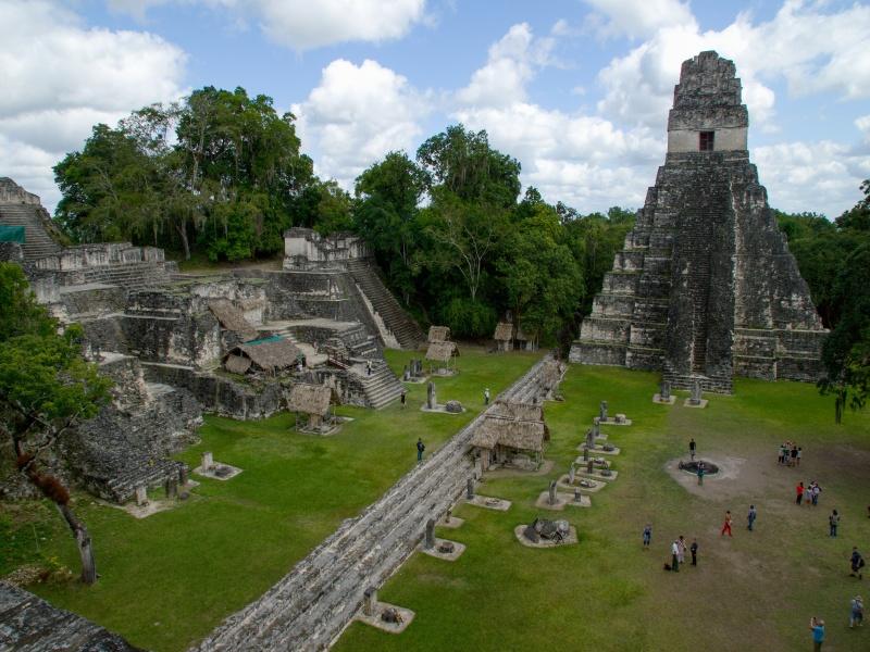 Tikal Central plaza